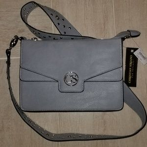 Christian Siriano Gray Handbag Purse